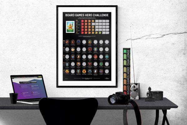 Board Games Hero Challenge Poster