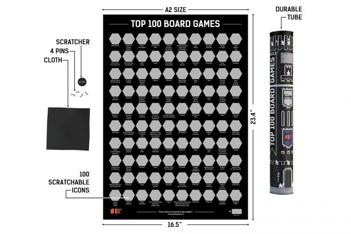 Top 100 Board Games Poster